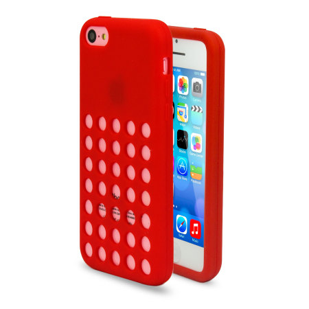red iphone 5c 6 pack circle for apple iphone 5c 12844
