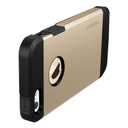 iphone 5s gold case. spigen sgp tough armor iphone 5s / 5 case - champagne gold iphone 5s
