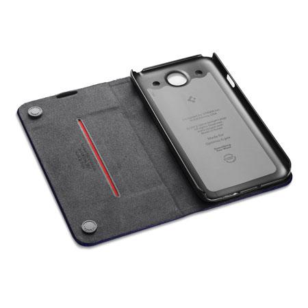 check out f764b 29fea Spigen SGP Slim Wallet Case for LG Optimus G Pro - Navy