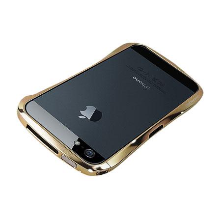 wholesale dealer 34ee6 453a2 Draco Design Aluminium Bumper for the iPhone 5S / 5 - Luxury Gold