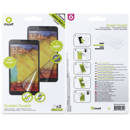 Muvit Matte & Glossy Screen Protector for Samsung Galaxy Note 3
