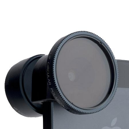 88308a5d1991de olloclip Telephoto and Polarising Lens Kit for iPhone 5S / 5 - Black