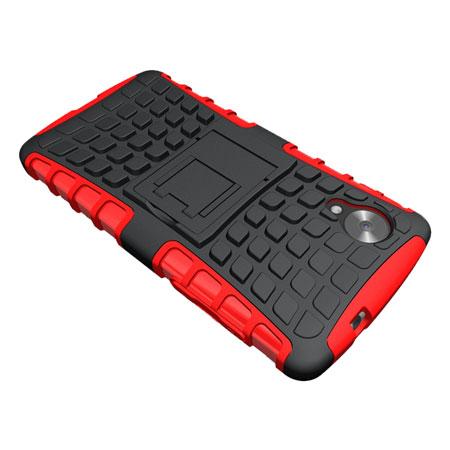 Funda para el Nexus 5 ArmourDillo Hybrid Protective - Roja