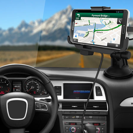 Car Mount Cradle with Hands-free for Samsung Galaxy Note 3 - Black