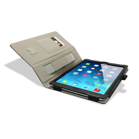 Housse iPad Air Stand and Type – Noire