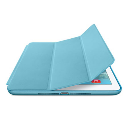 apple leather smart case for ipad air blue