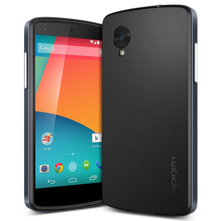 Spigen SGP Google Nexus 5用 ネオハイブリッドケース(メタルスレート)