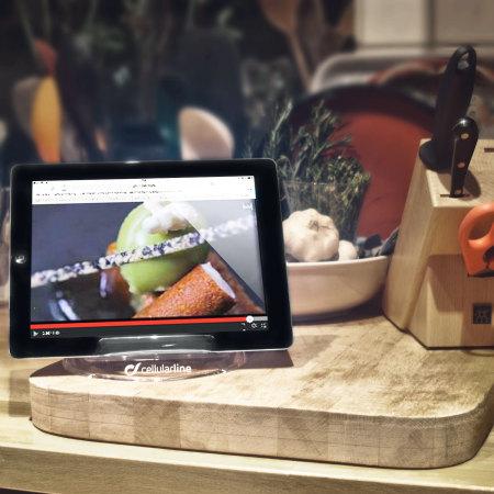 support cuisine ipad et tablettes cellularline double position. Black Bedroom Furniture Sets. Home Design Ideas