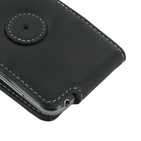 PDair Leather Flip and Slide Case for Samsung Galaxy S4 Mini - Black