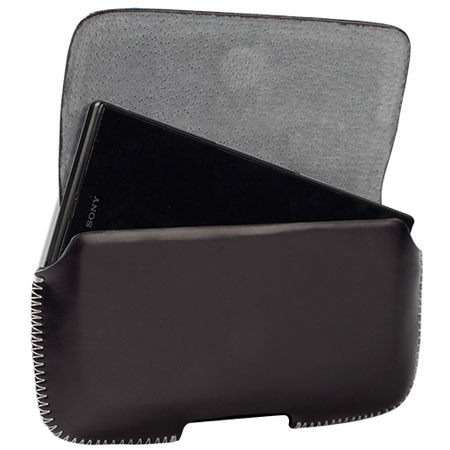 Krusell Hector 4XL Leather Pouch Case - Black