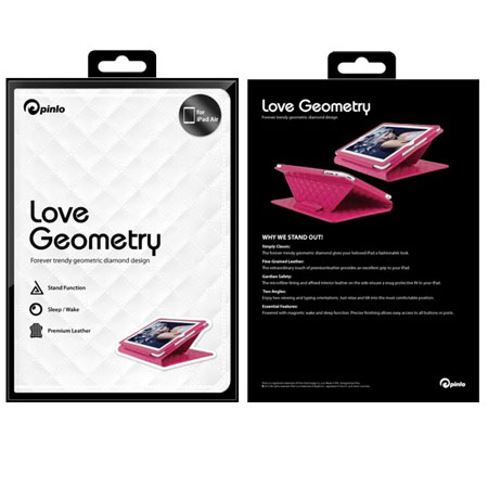 Pinlo Love Geometry Collection for iPad Air - White