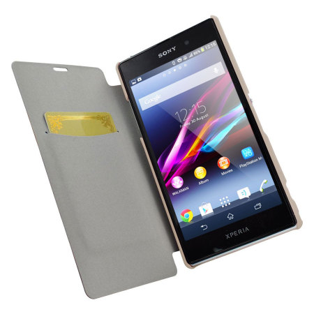 Metal-Slim Classic U Case with Stand for Sony Xperia Z1 - White