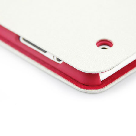 L.LA Case and Stand for iPad Air - White / Red
