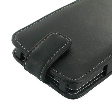 PDair Leather Sleep/Wake Flip Case for Nexus 5 - Black