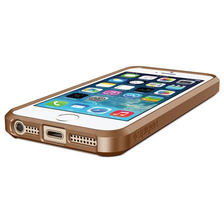 f55c97ddf72 Funda para el iPhone 5S / 5 de Spigen Ultra Hybrid - Marrón