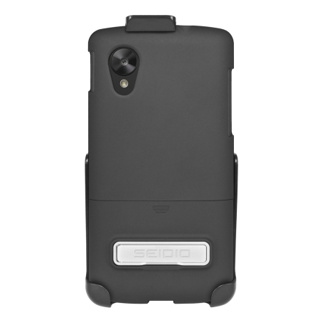 Seidio SURFACE with Metal Kickstand and Holster for Nexus 5 - Black
