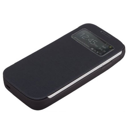 Kit 3700mAh Battery Case with Flip Cover for Galaxy S4 - Black