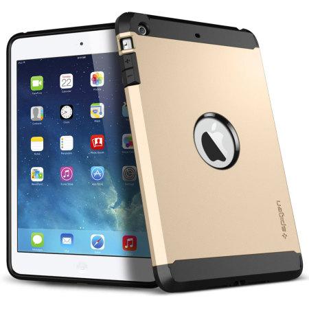 size 40 eb871 7b767 Spigen SGP Tough Armor Case for iPad Mini 2 - Champagne Gold