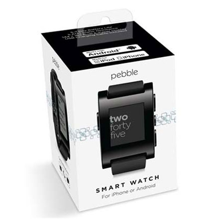 Pebble Smartwatch for iOS and Android Devices - Jet Black