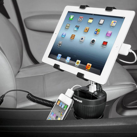 Capdase Car Power Cup Holder Charger 3.4A With Tab-X Mount - Black
