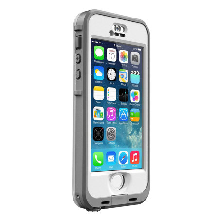 LifeProof Nuud Case for iPhone 5S - White / Grey