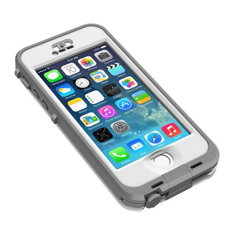 check out b0768 1cea7 LifeProof Nuud Case for iPhone 5S - White / Grey