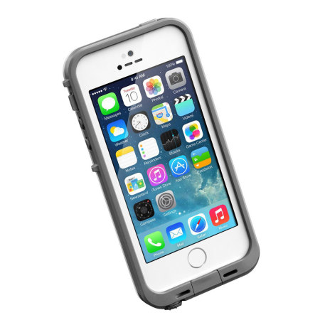 White And Grey Lifeproof Case Iphone