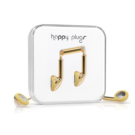 Happy Plugs EarBud Earphones Deluxe Edition - Gold