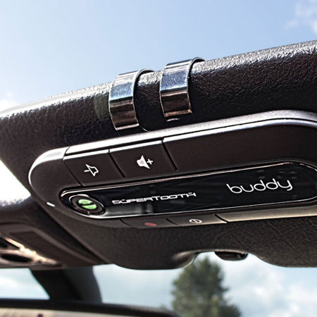 SuperTooth Buddy Hands-free Bluetooth Visor Kit & Car Holder - Black