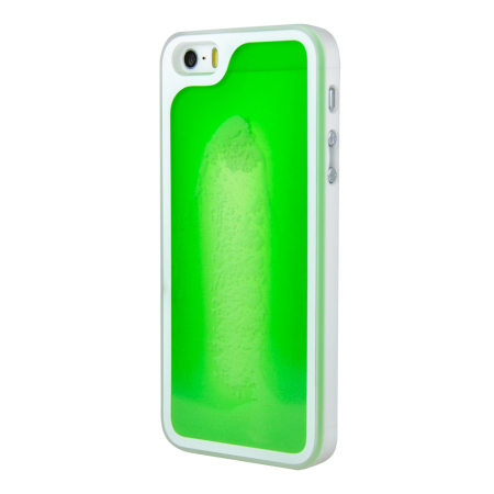Kuke Glow In The Dark Sand Case for iPhone 5S / 5 - Green