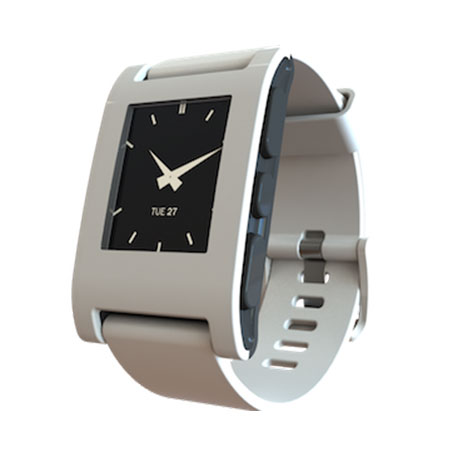 Pebble Smartwatch for iOS and Android Devices - Arctic White