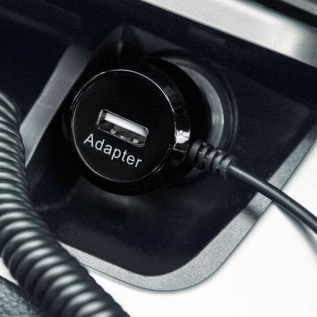 Olixar Super Fast Micro USB Car Charger with USB port - Black