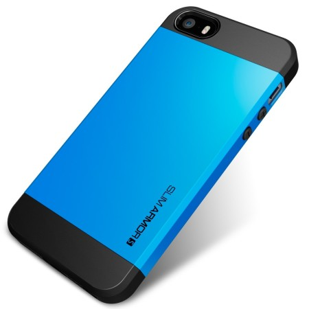 Coque iPhone 5S / 5 Spigen SGP Slim Armor S - Bleue