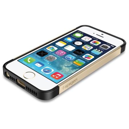 Spigen Slim Armor S Case for iPhone 5S / 5 - Champagne Gold