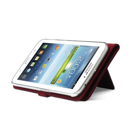 Zenus Modern Classic Diary for Samsung Galaxy Tab 3 7.0 - Wine