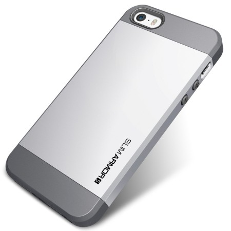 size 40 ef858 1d047 Spigen Slim Armor S Case for iPhone 5S / 5 - Silver