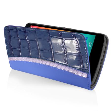 Orzly Rocksy Wallet Case For Nexus 5 Blue