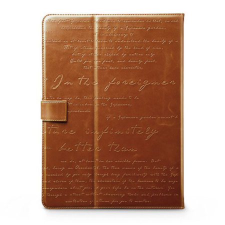 Zenus Lettering Diary for Samsung Galaxy Tab 3 10.1 - Brown