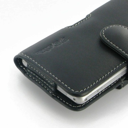 PDair Horizontal Leather Pouch Case for Sony Xperia Z1S - Black