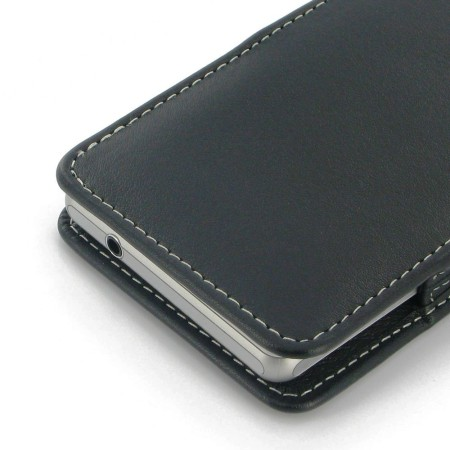 PDair Leather Vertical Flip Case for Sony Xperia Z1S - Black
