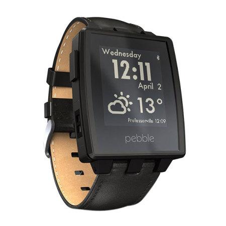Pebble Steel Smartwatch für iOS und Android Geräte in ...