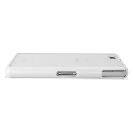 Roxfit Gel Shell Case for Sony Xperia Z1 Compact - White / Clear