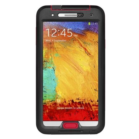 Seidio Galaxy Note 3 OBEX Waterproof Case - Black/Red