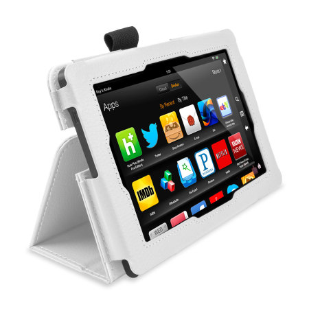 Stand and Type Case for Kindle Fire HD 2013 - White