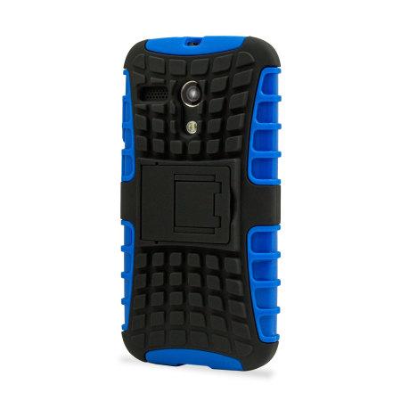 Armourdillo Hybrid Protective Case for Motorola Moto G - Blue