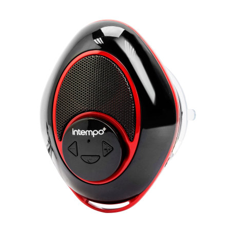 Intempo Bluetooth Speaker with Suction Cup - Black / Red
