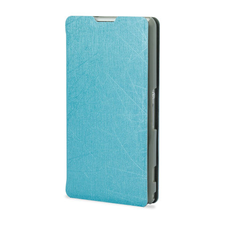 Pudini Flip and Stand Case for Sony Xperia Z1 Compact - Blue