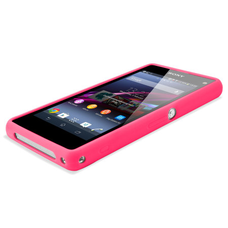 Muvit Bimat Back Case for Sony Xperia Z1 Compact - Clear / Pink
