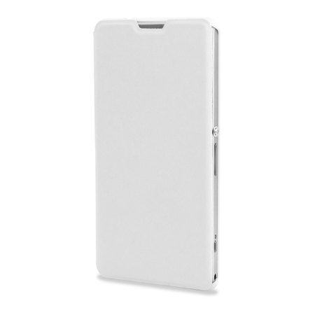 Muvit Easy Folio Leather Style Case for Sony Xperia Z1 Compact - White