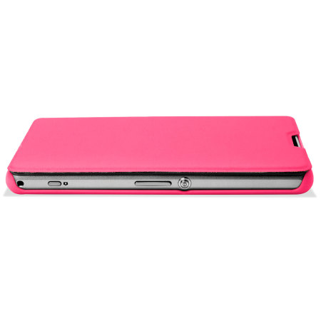 Muvit Easy Folio Leather Style Case for Sony Xperia Z1 Compact - PinkXperia Z1 Compact Pink